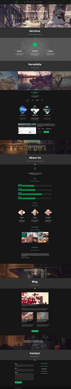 Teo - Single Page Parallax Template by TeoThemes (via Creattica)