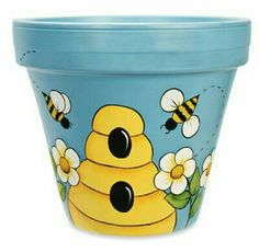 Clay Pot Crafting - Deco How to Crafts Flower Pot Art, Flower Pot Design, Clay Flower Pots, Flower Pot Crafts, Bee Flower, Flower Pot People, Clay Pot People, Clay Pot Projects, Clay Pot Crafts