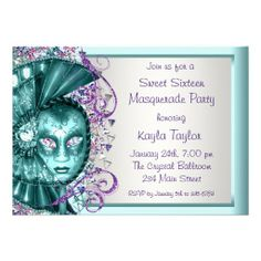 >>>Low Price Guarantee Purple Teal Blue Sweet Sixteen Masquerade Party Custom Invites Purple Teal Blue Sweet Sixteen Masquerade Party Custom Invites lowest price for you. In addition you can compare price with another store and read helpful reviews. BuyDiscount Deals ...Cleck Hot Deals >>> http://www.zazzle.com/purple_teal_blue_sweet_sixteen_masquerade_party_invitation-161195804023074439?rf=238627982471231924&zbar=1&tc=terrest