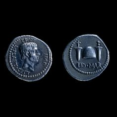 """fvckyeahromanhistory: """" Ides of March Special: Silver Denarius of Marcus Brutus, Macedonia, BCE This coin was struck in honour of Marcus Junius Brutus, one of the assassins of Julius Caesar. Antique Coins, Old Coins, Ancient Rome, Ancient History, The Ides Of March, Classical Antiquity, Early Middle Ages, Gold And Silver Coins, The Deed"""