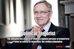 Harry Reid: Another Liberal Democrat thieving snake - The Black Sphere