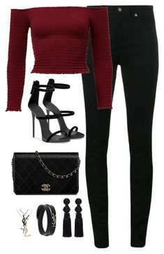 """Untitled #4755"" by magsmccray on Polyvore featuring Yves Saint Laurent and Oscar de la Renta"