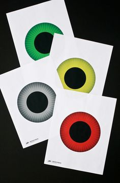 Click the link above to download our free printable Eyeball template -- six different iris colors to choose from! You can cut them out to make fun Halloween decor as we did here.