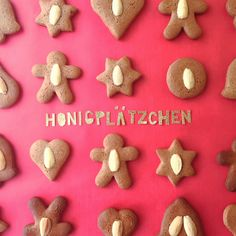 Weihnachten schmeckt nach den Honigplätzchen meiner Oma. Gingerbread Cookies, Christmas Cookies, Christmas Holidays, Xmas Countdown, Food And Drink, Sweets, Baking, Desserts, Recipes