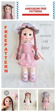 Diy Crafts - We continue to provide you with the latest recipes related to Amigurumi. Amigurumi doll zühre free crochet pattern is waiting for you. Doll Amigurumi Free Pattern, Crochet Amigurumi Free Patterns, Amigurumi Doll, Crochet Doll Dress, Crochet Doll Clothes, Amigurumi For Beginners, Easter Crochet Patterns, Crochet Patron, Blog