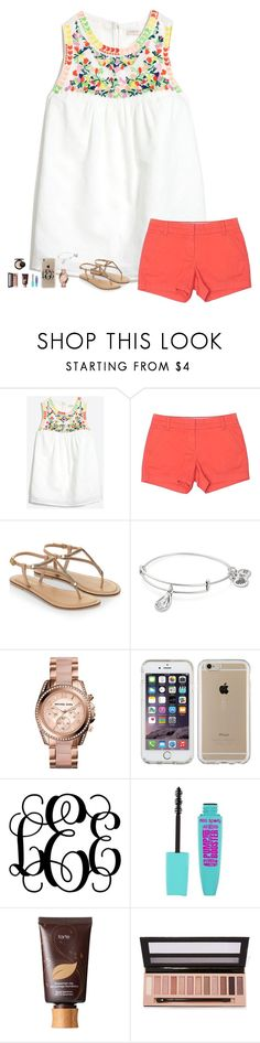 """""""J is for J. Crew"""" by liblu13 ❤ liked on Polyvore featuring J.Crew, Accessorize, Alex and Ani, Michael Kors, Speck, tarte, L.A. Girl and MAC Cosmetics"""