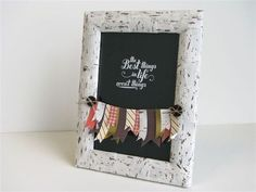 Love this frame and banner made with the Thankful Tablescape Kit