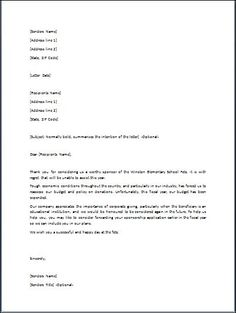 Disapproval Letter | 27 Best Letter Sample Images Legal Forms Cv Template Free Printables