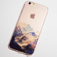 Snowy Mountains iPhone 6 / 6S Transparent Soft Case