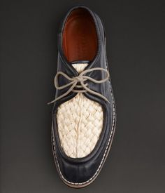 Burberry Woven Desert Loafers