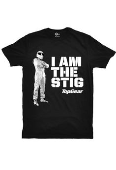 """Every time you wear your smart, short-sleeve shirt, you'll win praise and admiration for your internationally famous test-driving and celebrity-training skills. Classic """"I am The Stig"""" t-shirt. Simple and understated. Wear it and swear your allegiance to all things Top Gear."""