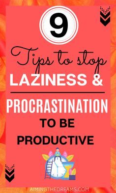 How to stop procrastination and laziness to beat procrastination. These 9 tips will definitely help you beat this habit. Coping Skills, Life Skills, 5am Club, Time Management Strategies, How To Stop Procrastinating, Self Development, Getting Things Done, Self Improvement, Self Help