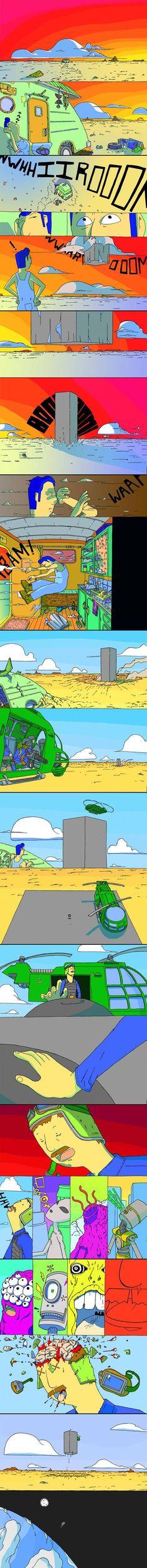Nunca se aproxime da grande rocha alienígena.