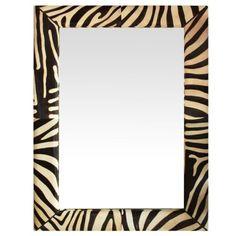 Zebra Pattern Hide Mirror