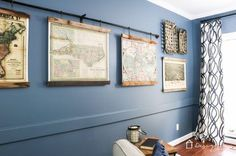 diy map art from old pallets, diy, pallet, wall decor