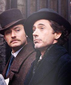 Sherlock Holmes - Robert Downey Jr. and Jude Law.