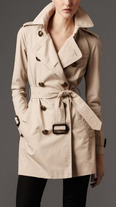 burberry trench to put over dress