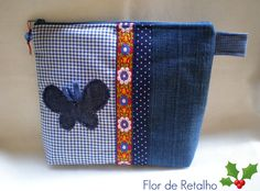 Borboletinha jeans... by Flor de Retalho, via Flickr:… just cute and simple