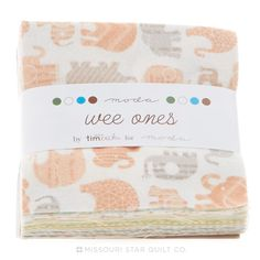Wee Ones Flannel Charm Pack - Tim and Beck - Moda Fabrics