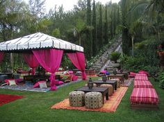 Cool outdoor party set up
