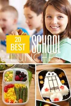 School Lunches Your Kids Won't Trade: Sure, you could pack PB&J again, but we've got some better ideas for school lunches that are nutritious, delicious AND fun! #Back2school