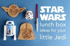 """May is """"Star Wars Day"""" -- surprise your little Jedi with these Star Wars lunch ideas! Star Wars Lunch Box, Cute Bento Boxes, Eat Lunch, Lunch Time, Healthy School Lunches, Star Wars Day, Star Wars Birthday, Kid Friendly Meals, Kids Meals"""