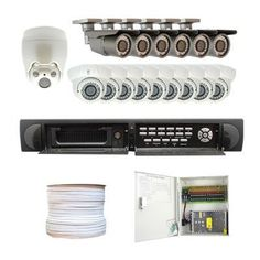 """Complete High End 16 Channel Real Time H.264 HDMI CCTV DVR (2TB HD) Security Camera Surveillance System Package w/ (1) 10X Zoom White Indoor PTZ Camera and (6 Outdoor) & (9 Indoor) 700TVL 1/3"""" Exview HAD CCD II with Effio-E DSP Devices Cameras (1000 Feet RG59 Siamese Power/Video Combo Cable) by Gw. $2490.00. Package includes:  GW9016V-H DVR with 2T HDD; 1 x GW50FW - 10X Zoom Mini IR Medium Speed Indoor PTZ Dome Camera; 6 x GW30WD - 1/3"""" Exview HAD CCD II Camera; 9 x GW108M -..."""