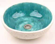 Turquoise stone sink handmade washbasin overtop / Lavabo in pietra turchese fatto a mano