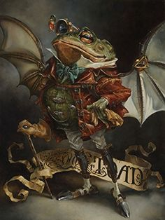 Treasures on Canvas: The Insatiable Mr. Toad by Heather Theurer - Spring 2015 Treasures on Canvas - Disney - The World's Largest Animation And Fine Art Gallery Mr Toad, Frog And Toad, Disney Fine Art, Disney Treasures, Frog Art, Disney Kunst, Paperclay, Pet Portraits, Character Portraits