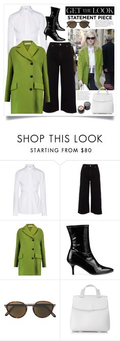 """""""Statement Coat!"""" by diane1234 ❤ liked on Polyvore featuring Helmut Lang, River Island, Marni, Stuart Weitzman, Persol, Nico Giani, Kari Gran, GetTheLook, colorpop and statementcoat"""