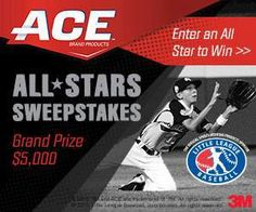 BRAND NEW SWEEPSTAKES    ACE All Stars Sweeps WIN $5000 for you and $5000 for Charity   Click-------------->http://moregoodiesforyou.com/?p=767