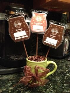For the Coffee Lover: Scentsy Bars: Mochadoodle, Sticky Cinnamon Bun, and Perk Me Up (could also add Hazelnut Latte). www.smellslikehome.scentsy.us