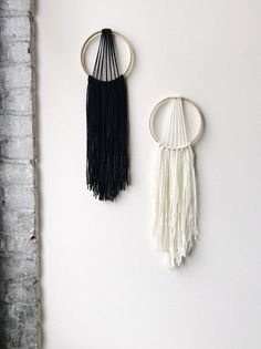 Modern Dream Catcher Yarn Wall Hanging Boho by GeminiRainBoutique