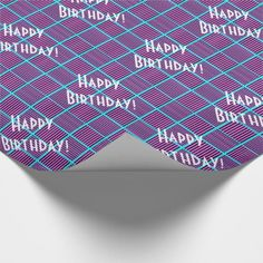 Blueberry Pie Squares Birthday Wrapping Paper - birthday gifts party celebration custom gift ideas diy