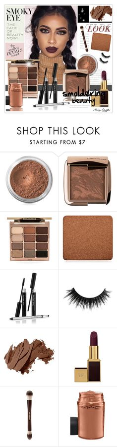 """Smoldering: Smoky Eye"" by mcheffer ❤ liked on Polyvore featuring beauty, Bare Escentuals, Hourglass Cosmetics, Stila, Inglot, Trish McEvoy, Bobbi Brown Cosmetics, Tom Ford, MAC Cosmetics and smokyeye"