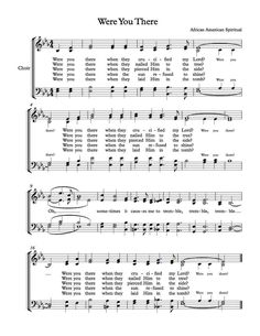Free Choir Sheet Music - Were You There
