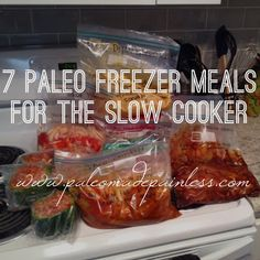 Paleo made Painless: 7 FREEZER SLOW COOKER PALEO MEALS! (Note: Thaw meals in fridge, overnight. Crock Pot Recipes, Crock Pot Cooking, Slow Cooker Recipes, Paleo Recipes, Whole Food Recipes, Cooking Recipes, Paleo Food, Paleo Crock Pot, Budget Recipes