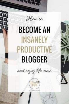 Ready to do more in less time? Reduce your workload and become an insanely productive blogger by following these 5 simple steps to a more productive you. # 3 is my favorite productivity tip EVER!