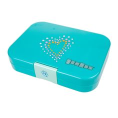 Limited Edition Yumbox Fifth Avenue Blue with gem stickers. Decorate your Yumbox. Great holiday gift. Now available at www.yumboxlunch.com