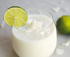 Coconut and Lime Smoothie – Plain yogurt, coconut milk, coconut flesh for added texture and stronger taste (optional), the juice of a single lime, honey, and ice as desired.