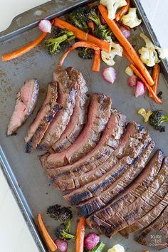 Balsamic Grilled Flank Steak - super simple and full of flavor!