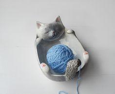 Kotek miseczka, yarn bowl NA ZAMÓWIENIE