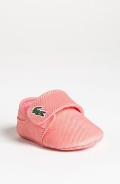 Lacoste 'Marice' Crib Shoe (Baby) available at #Nordstrom