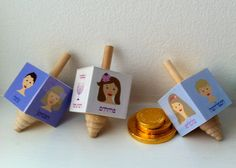 Personalized Wooden Dreidel Great Family by charlotteandmia