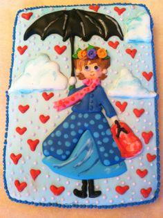Mary Poppins Valentine's Day cookie 2014