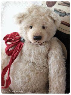 artist toy teddy bear willy by anna bratkova