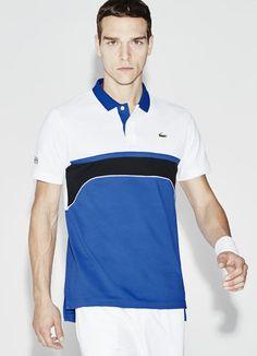 ef5497d94ed7b Polo colarinho jacquard Tennis Lacoste SPORT color block Lacoste Para  Homens, Camisa De Polo,