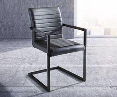 DELIFE Freischwinger Kinsey Grau Vintage Steppnaht Metall Schwarz, Esszimmerstühle Jetzt bestellen unter: https://moebel.ladendirekt.de/kueche-und-esszimmer/stuehle-und-hocker/freischwinger/?uid=c95aa710-d0d5-58f9-b52a-a1f1e83a2675&utm_source=pinterest&utm_medium=pin&utm_campaign=boards #freischwinger #kueche #esszimmer #hocker #stuehle