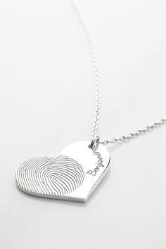 Heart Fingerprint Necklace • Heart Thumbprint Necklace • Fingerprint heart necklace • Actual fingerprint necklace • Fingerprint pendant necklace • thumbprint jewelry • fingerprint memorial jewelry • Sterling silver remembrance necklace • Condolence Jewelry in Sterling Silver • Personalized sympathy jewelry • in loving memory gifts • memorial gifts for loss of mother • grieving gifts • christmas presents • christmas gifts for her • xmas gift ideas for women • xmas