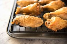 These crispy oven baked wings are so crispy, you will think they've been deep fried! You will be shocked how easy these are to make! www.recipetineats.com